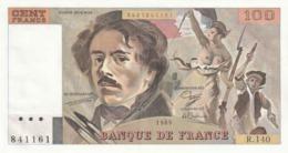 Lot De 3 Billets Neuf Delacroix 100 Francs 1989 Série 140 Neuf - 100 F 1978-1995 ''Delacroix''