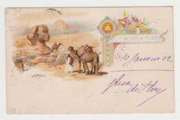 BB696 - EGYPTE - Souvenir Du Caire - Belle Illustration - Pyramides - Sphinx - 1902 - El Cairo