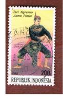 INDONESIA   - SG 2070  -  1992 TRADITIONAL DANCERS: EAST JAVA  - USED ° - Indonesia