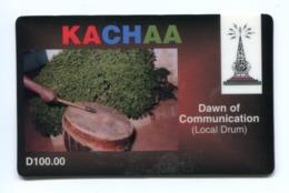 Telecarte Prépayée °_ Gambie-Kachaa Telecom-D100.00- R/V 1703 - Gambia