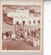 TOZEUR Tunisie Place CANOVA GANOVA Marché Septembre 1923 Photo Amateur Format Environ 5 X 3,5 Cm - Luoghi