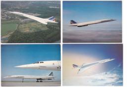 Gf. Air France CONCORDE. 4 Cartes - Flugzeuge