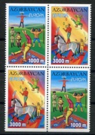 RC 13990 EUROPA 2002 AZERBAIJAN BLOC DE 4 NEUF ** MNH - 2002