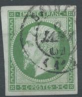 Lot N°51109  N°12, Oblit Cachet à Date De Saintes, Charente-Inférieure (16) Du 6 Janv 1861, Belles Marges - 1853-1860 Napoléon III