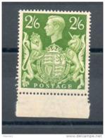 Grande Bretagne. 2/6 Vert - 1902-1951 (Re)