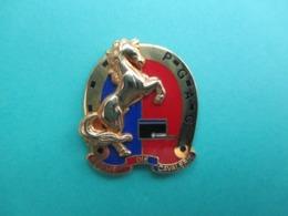 Ins Arthus Bertrand ,  Cheval,  Régiment De Cavalerie , P-G-A-C ( Couleur Dorée, Reflets Parasites ) - Arthus Bertrand