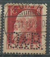 Timbre Allemand 10 Pf Rouge Perforé - Usati