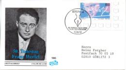"""BRD Schmuck-FDC """"50. Todestag Von Franz Werfel"""", Mi. 1813 ESSt 10.8.1995 BERLIN 12 - BRD"""