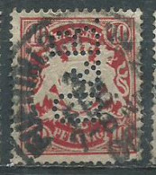 Timbre Allemand Bayern 10 Pf Rouge Perforé - Bayern (Baviera)