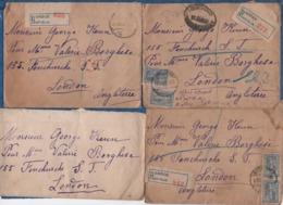 GRECE-1922- Lot De 13 Enveloppes Timbrées Adressées à La Princesse BORGHESE à Londres- (quatre Avec Correspondance) - Grecia