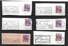 FRANCE 1960/61  Lot 6  Timbres N° 1234 +  Flamme Sur Fragment - Autres