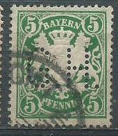 Timbre Allemand Bayern 5 Pf Vert Perforé - Bayern (Baviera)