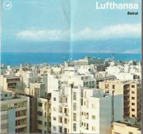 Jordanien, Beirut, Prospekt Der Lufthansa, 1970,  1 Blatt Lose - Tourism Brochures
