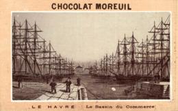 CHROMO CHOCOLAT MOREUIL LE HAVRE LE BASSIN DU COMMERCE - Chocolate