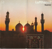 Irak, Baghdad,Bagdad, Prospekt Der Lufthansa, 1970, - Tourism Brochures