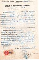 Extrait Du Registre Des Naissances, Mairie De Guengat, En Vue De Mariage, 1948. Timbre Taxe Communale De 7.50 Francs - Fiscali
