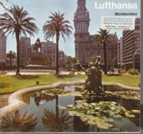 Montevideo, Uruguay , Prospekt Der Lufthansa, 1970, - Tourism Brochures