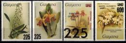 MBP-BK2-018-2 MINT ¤ GUYANA 4w MINT OUT OF SET- MINT ¤ FLOWERS OF THE WORLD - ORCHIDEE - FLEURS BLÜMEN - Orchids