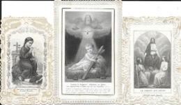 Lot De 32 Images Religieuses - Christ, Vierge, Saints, Cartes Dentelée Et Classiques - Images Religieuses
