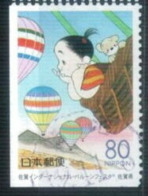 Coil - From Booklet Pane - Japan 2000 - Saga Prefecture - International Hot Air Balloon Conference 3 - Used Stamps