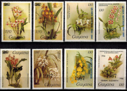 MBP-BK2-0024-3 MINT ¤ GUYANA 8w MINT OUT OF SET- MINT ¤ FLOWERS OF THE WORLD - ORCHIDEE - FLEURS BLÜMEN - Orchids