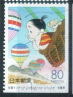 Coil - From Booklet Pane - Japan 2000 - Saga Prefecture - International Hot Air Balloon Conference 4 - Used Stamps