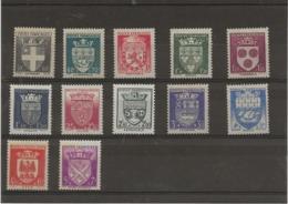 SERIE ARMOIRIES - N° 553 A 564 NEUVE SANS CHARNIERE - ANNEE 1942 - COTE : 60 € - 1941-66 Escudos Y Blasones