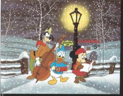 J) 1981 REDONDA, CHRISTMAS, GOOFY, MICKEY MOUSE AND DONALD, SOUVENIR SHEET, MNH - Stamps