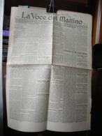 (G26) LA VOCE DEL MATTINO QUOTIDIANO FASCISTA SINDACALE, ROVIGO, GIOVEDI 27 DICEMBRE 1928 ANNO III N° 299 - Riviste & Giornali
