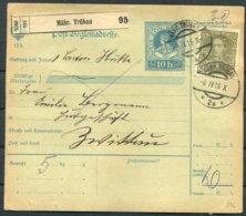 1916 Austria Parcelcard Mahr. Trubau - Zwittau - 1850-1918 Empire