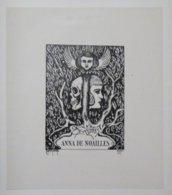 Ex-libris Illustré France XXème - ANNA DE NOAILLES - Bookplates