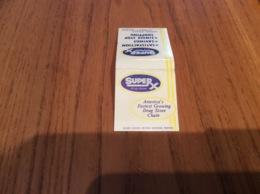 "Pochette D'allumettes Etats-Unis ""SUPER X Drug Stores"" - Boites D'allumettes"