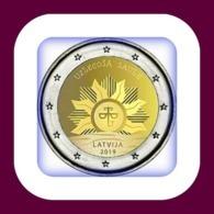"""NEU !Lettland Latvia,Lettonie 2 Euro 2019 -""""Aufgehende Sonne"""" Bankfrisch UNC - Letland"""