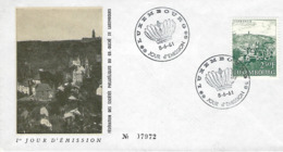 Luxembourg  -  FDC  8.6.1961   Clervaux - FDC