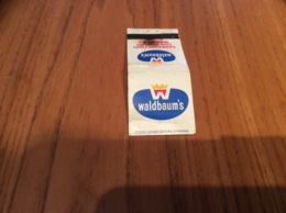 "Pochette D'allumettes Etats-Unis ""waldbaum's"" - Boites D'allumettes"