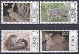 Ciskei Südafrika RSA 1982 Tiere Fauna Animals Säugetiere Hasen Rabbits Füchse Fox Karakal Cats, Mi. 30-3 ** - Ciskei