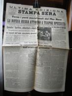 (G29) QUOTIDIANO, ULTIMA EDIZIONE STAMPA SERA 13/14 OTTOBRE 1942 -TORINO N° 244 ANNO 76  - GOZZANO GUIDO - Riviste & Giornali