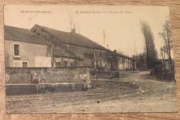 52 RECOURT LA FONTAINE DU BAS ET LE CHEMIN VIAUX 1931 CPA 2 SCANS - France