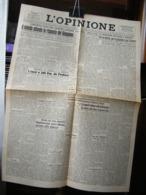 (G30) L' OPINIONE, QUOTIDIANO LIBERALE, 14 AGOSTO 1945 - TORINO ANNO 1 N° 93 - Riviste & Giornali