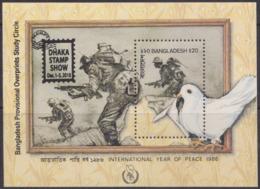 Bangladesh 2018 MS DHAKA/STAMP/SHOW Overprint On Peace Year SS 1986 MNH Limited Issue - Bangladesh