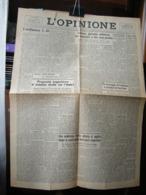 (G31) L' OPINIONE, QUOTIDIANO LIBERALE, 22 MAGGIO  1945  - TORINO ANNO 1 N° 23 - Riviste & Giornali