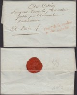 """FRANCE DATE DE PARIS 10/05/1794 """"COMd DE LA MARINE ET DES COLONIES"""" VERS PARIS (DE) DC-4136 - Marcophilie (Lettres)"""