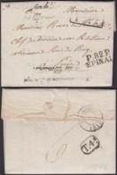 """FRANCE DATE DE EPINAL 05/01/1818 """"P.82.P. EPINAL"""" VERS PARIS (DE) DC-4137 - Marcophilie (Lettres)"""