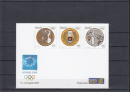 Malta Michel Cat. No. Postal Stat Unused Olympia 2004 - Malta