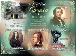 Guinea - Bissau 2010 - Frederick Chopin (1810-1849) 5v Y&T 3357-3361, Michel 4731-4735 - Guinea-Bissau