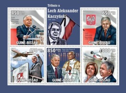Guinea - Bissau 2010 - Tribute To Lech Alexander Kaczynski (1949-2010) 5v Y&T 3371-3375, Michel 4708-4712 - Guinea-Bissau