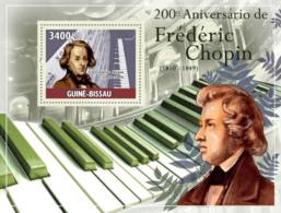 Guinea - Bissau 2010 - 200th Anniversary Of Frederic Chopin (1810-1849) S/s Y&T 525, Michel 4821/BL808 - Guinea-Bissau