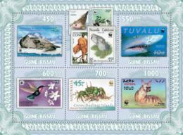 Guinea - Bissau 2010 - Stamp On Stamp (WWF-Fauna) 5v Y&T 3434-3438, Michel 4810-4814 - Guinea-Bissau