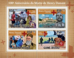 Guinea - Bissau 2010 - 100th Anniversary Of Death Henry Dunant (Red Cross) 4v Y&T 3621-3624, Michel 4910-4913 - Guinea-Bissau