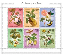 Guinea - Bissau 2010 - Insects & Flora 6v Y&T 3505-3510, Michel 5081-5086 - Guinea-Bissau